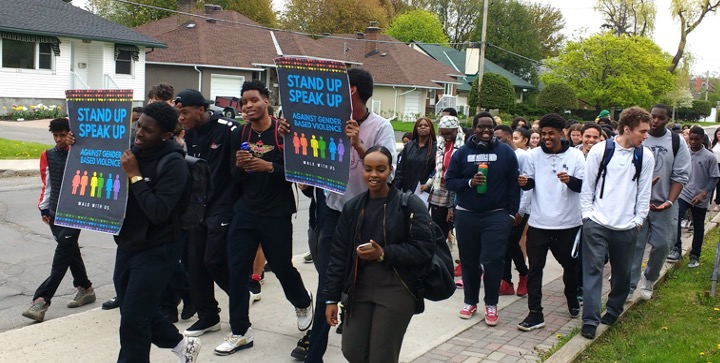 Students march to end gender-based violence